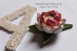 Tutorial Lotus Flower – Quilling Lettering